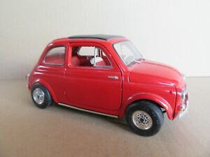 757 11/12ft Solido 8044 France Fiat 500 29 Rally Mounted Carlo 1965 Red 1:16