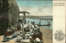 Hawaii HI Luau Feast Alhoa Nui Series c1905 Postcard
