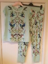 Ted Baker Pyjamas T-shirt & Jersey Bottoms Green Hummingbird Highgrove Print 14