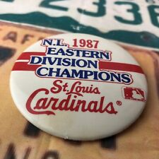 1987 St. Louis Cardinals Eastern Division Champion Button Pin Baseball