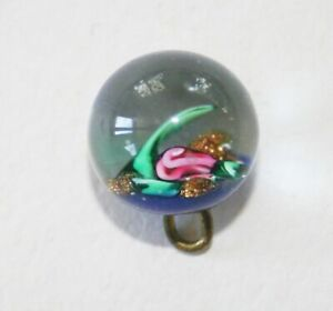 Antique Victorian Charmstring Glass Paperweight Button