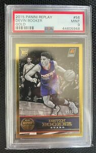 EC 2014-15 Panini Replay Rookie RC Gold Parallel #56 Devin Booker 6/25 PSA 9