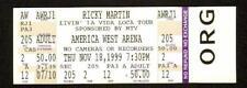 RICKY MARTIN 1999 UNUSED FULL CONCERT TICKET 11/18/99 PHOENIX, AZ AMERICA WEST