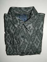 14 - American Rag Men Black Geo Print Long Sleeve Shirt 100% Cotton NWT Size XS