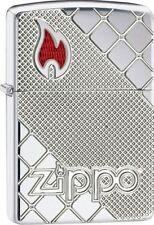 Zippo 29098, Armor, Zippo Flame, Deep Carved, High Polish Chrome Lighter