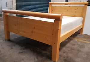 solid chunky pine bed