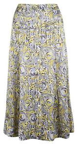 GANNI Abstract-Print Heavy Viscose-Satin Midi Skirt.  EU 40/UK 14