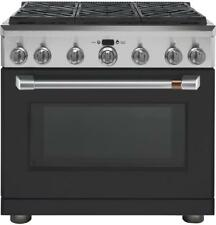 Ge Cafe Matte Black Kitchen Package with Pro 36in Gas Range