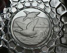 3x Platte für den Jäger - Wildgänse - Glas wie Kristall