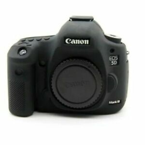 For Canon EOS 5D Mark III 5D3/5DS/5DR Case Skin Black Silicone Body Bag Cover
