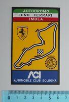 ADESIVO STICKER AUTOCOLLANT ACI BOLOGNA ANNI '80 VINTAGE AUTO TUNING 9X6 cm.RARO