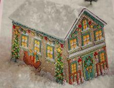 3D-Stickvorlage,Point de Croix,Cheryl McKinnon,Weihnachtshaus,Advents-Deko,Dmc