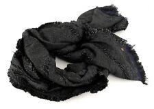 ESPRIT edc Glamorous Jacquard Scarf Schal Tuch Halstuch Black