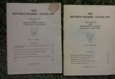 THE MONMOUTHSHIRE ANTIQUARY VOLUME 2 Part 3  & Volume 3