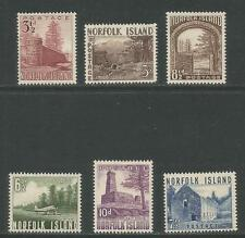 Norfolk Island 1953 Island Landmarks--Attractive Topical (13-18) MH