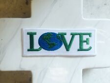 Love the Earth Planet Green Peace Love Environment Iron On Patches Patch