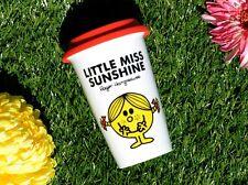 MR MEN Little Miss Sunshine DOUBLE WALLED PORCELAIN Take Away TRAVEL MUG