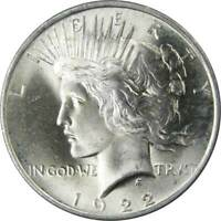 1922 Peace Dollar BU Uncirculated Mint State 90% Silver $1 US Coin Collectible