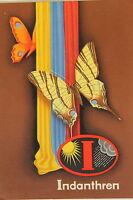 24344 Genial Werbekarte Indanthren Telas Alrededor De 1930 Con Mariposas