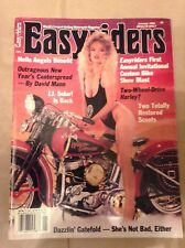 EasyRiders Magazine #199 January 1990 David Mann Centerfold Near Mint Condition