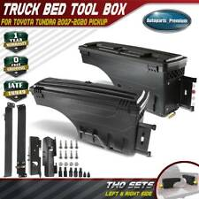 2Pcs Truck Bed Storage Box Toolbox for Toyota Tundra 2007-2020 Rear Left & Right