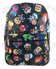 """16"""" Marvel Avengers All Print Boys Large School Backpack (Black)"""