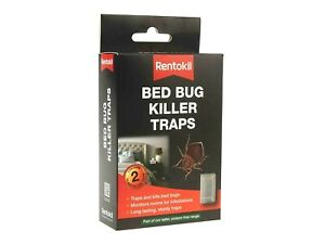 Rentokil Bed Bug Pest Killer Traps Bedroom Bugs Control BB01- Twin Pack