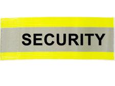"XL Hi Visibility Reflective Yellow Armband Printed SECURITY 20"" x 5"" Adjustable"