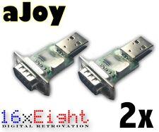 Doppelpack aJoy USB Retro Joystick Adapter für Commodore uvm - auch C64 mini
