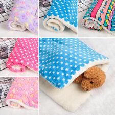 Thick Cushion Flannel Fleece Cat Bed Pet Mat Soft Warm Dog Blanket Sleeping Pad