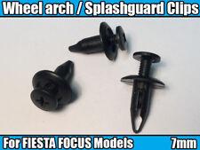 50x Passaruota Rivestimento Clip Per Ford Fiesta Focus Splashguard Trim 7mm Nero