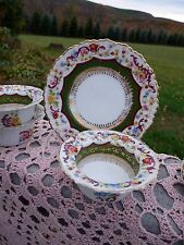 SAXE AHREHFELDT Set 6 HandPainted RAMEKIN CUSTARD DISHES & SAUCERS #2320 AUSTRIA