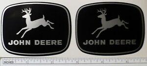 JOHN DEERE 2-7/8 inch wide 4-leg Silver Deer DECALS Tractor Computer Cut J1958