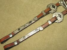 High Quality Med Oil Western two-ear Headstall Bridle with FLASHY MEXICO SILVER