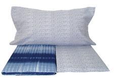 LENZUOLA 1 piazza in flanella di cotone per letto singolo Line colore blu