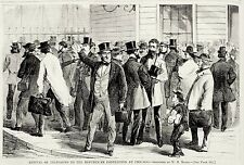 Republican National Convention Delegates Chicago Illinois Newspaper Boy 1868