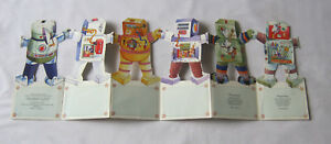Rent a Robot fold out card book vintage 1984 rhyming kids Daisychains Rare