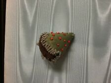 ANTIQUE VICTORIAN BEADED fabric STRAWBERRY PIN CUSHION