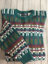 Men's Vtg Kenneth Roberts Hipster Crewneck Sweater Geometric Multicolor Large