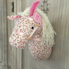 Fabric Pony Wall Head Bust Children Room Decoration Horse Art Sculpture Vintage