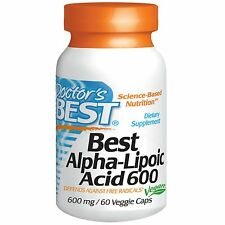 Doctor's Best, migliore ALFA-acido lipoico, 600 MG, 60 Veggie Caps