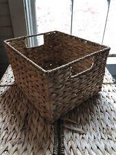 Storage Basket Seagrass Straw Bags Handmade Organizer Sundries Make Up Container