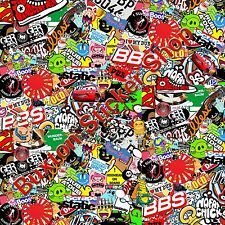 Stickers bomb sheet euro vinyl decal vw vauxhall bbs honda dub wrap volkswagen