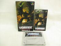 VORTEX Super Famicom Nintendo Japan Boxed Game sf