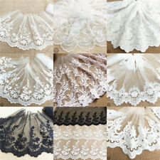 Lace Trim Floral Sewing Fabric Tulle Vintage Mesh Eyelash Embroidered Crafts