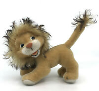Schuco Lion Lowe Mohair Plush Bigo Bello 19cm 7.5in 1960s Seam Tag Vintage