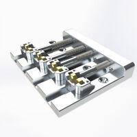 Hipshot 5K400C 4-String Kickass Bass Bridge 5 Hole Configuration, Chrome