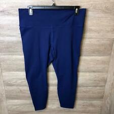 Fabletics Womens Plus Size 2X Navy High-Waisted PowerHold 7/8 Leggings NWT