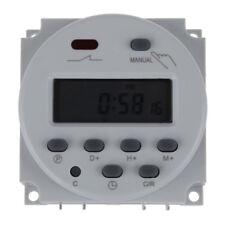Digital LCD temporizador programable interruptor de la AC220-240 16A Blanco O9V3