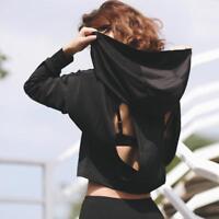 Hooded Athletic Jacket For Women Breathable Sportswear Anti Shrink Compress Wear